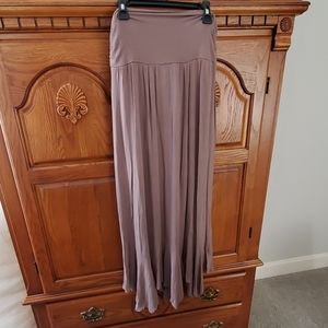 New Directions Maxi Skirt - Taupe Colored- Medium